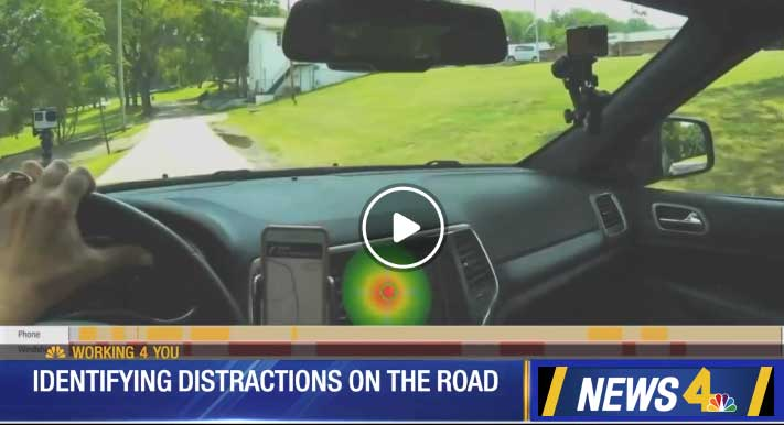 ETV eye tracking glasses distracted driving video