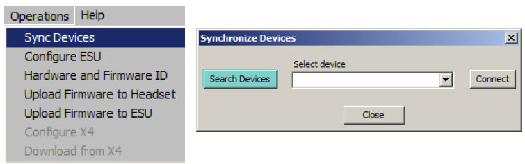 B-Alert Synchronize Devices