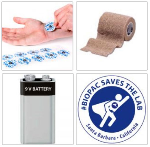 electrodes and battery for BSL Home lessons