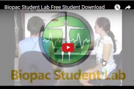 Biopac Student Lab Tutorial Screencast