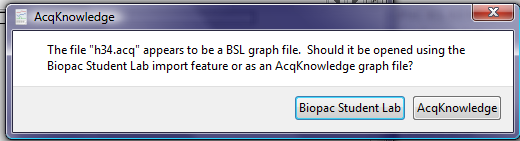 BSL File Import dialog box