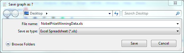Excel Export Dialog box
