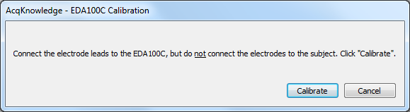 Dialog box shown by setup channels when adding EDA100C