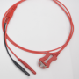 Clip Lead Red 1 m Shielded Back
