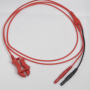 Clip Lead Red 1 m Shielded