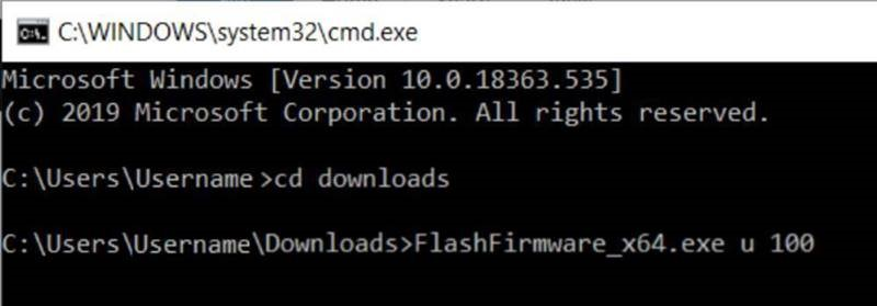 Mobita firmware update command