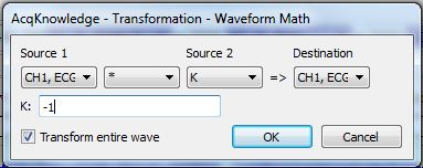 Transform > Waveform Math to invert data