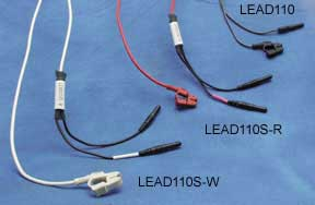 Clip Lead RED 1m TP Shielded